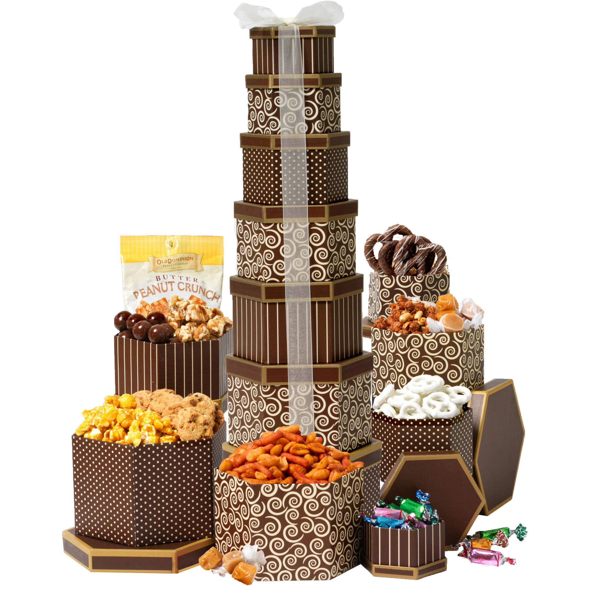 Broadway Basketeers Chocolate & Nut Gift Tower