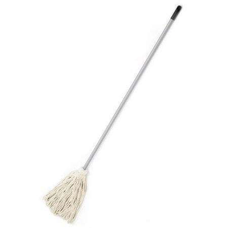 "Laitner Brush Company #20 Cotton Deck Mop with 48"" Grey Handle"