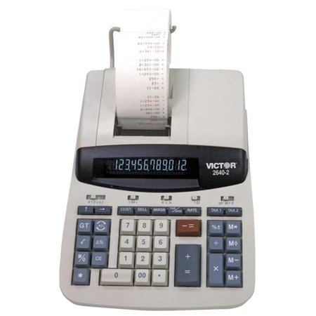 Due Date Calculator Pregnant - Victor 2640-2 12 Digit Heavy Duty Commercial Calculator - Dual Color Print - Dot Matrix - 4.6 lps - Clock, Date, Big Display - 12 Digits - Fluorescent - AC Supply Powered - 8