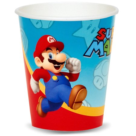 Super Mario Party Supplies 16 Pack Paper Cups