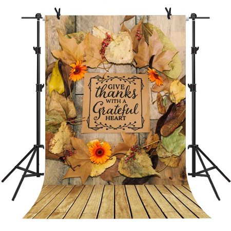 Falling Leaves Background (HelloDecor Polyster 5x7Ft Falling Leaves Backdrop Flower Wood Floor Autumn Background Children Photo Video Studio Photography )