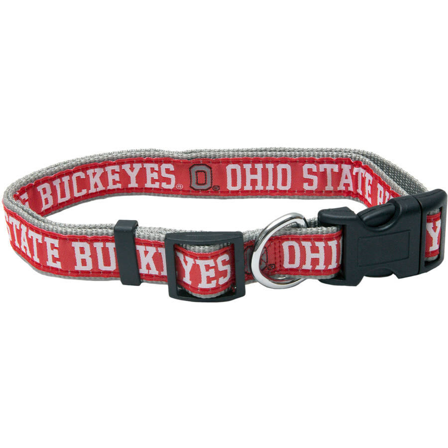 Pets First College Ohio State Buckeyes Pet Collar, 3 Sizes Available, Sports Fan Dog Collar
