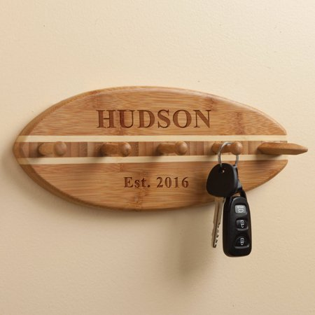Personalized Bamboo Surfboard Wall -