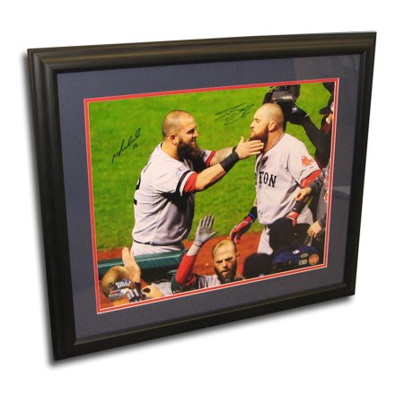 Autographed Mike Napoli And Johnny Gomes 2013 Worl