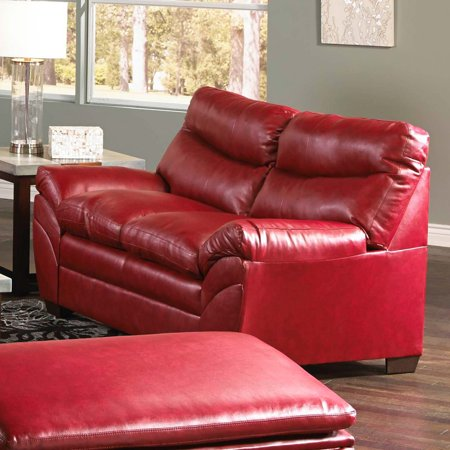 Outstanding Simmons Upholstery Soho Bonded Leather Loveseat Cardinal Frankydiablos Diy Chair Ideas Frankydiabloscom