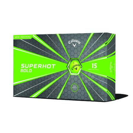Callaway Superhot 18 Golf Balls - 15 Pack Bold Green](Light Golf Balls)