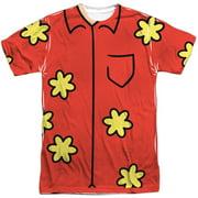 Family Guy - Quagmire Costume (Front/Back Print) - Short Sleeve Shirt - Large
