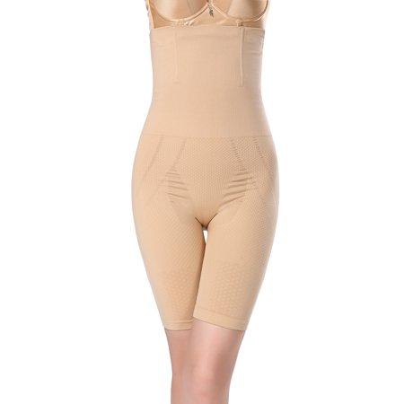 Women's High Waist Tummy and Thigh Control Shapewear - Nude, XL/2XL