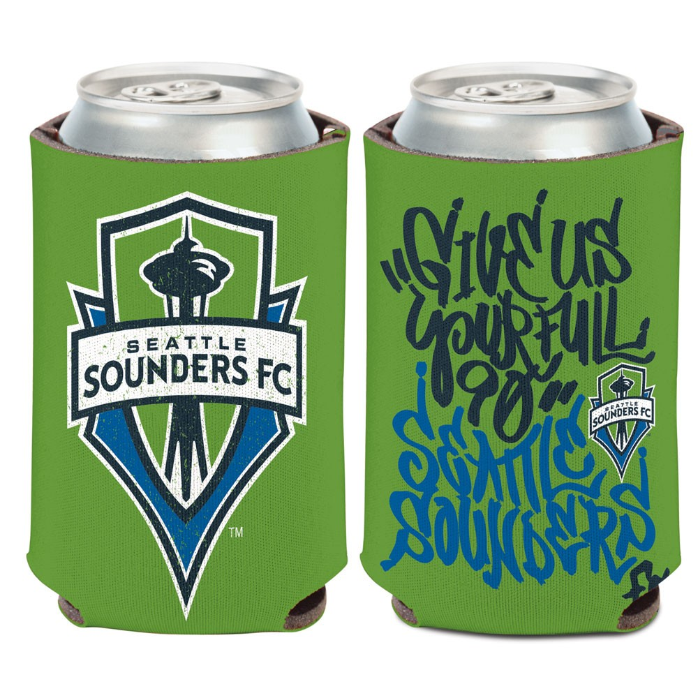 Seattle Sounders FC Official MLS 12 oz. Insulated Coozie Can Cooler by WinCraft