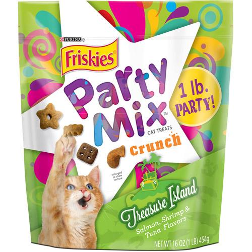 Purina Friskies Party Mix Crunch Treasure Island Cat Treats 16 oz. Pouch