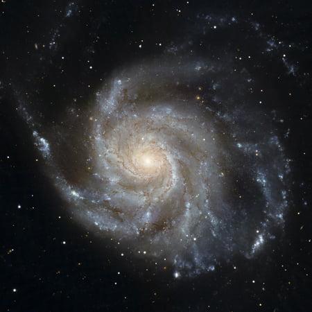 Pinwheel Brooch Pin - Messier 101 the Pinwheel Galaxy Canvas Art - Stocktrek Images (28 x 28)
