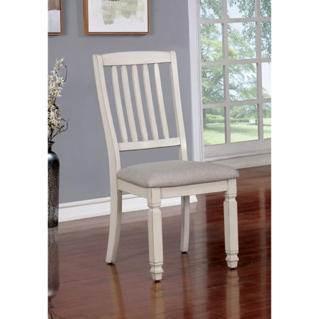 Furniture of America Loretta French Country Weathered Dining Chair - Set of 2 ()