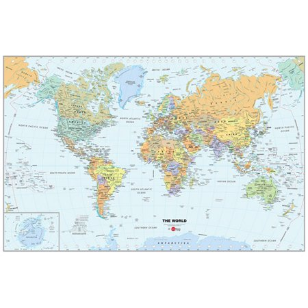 WallPops World Map Dry Erase Calendar Decal