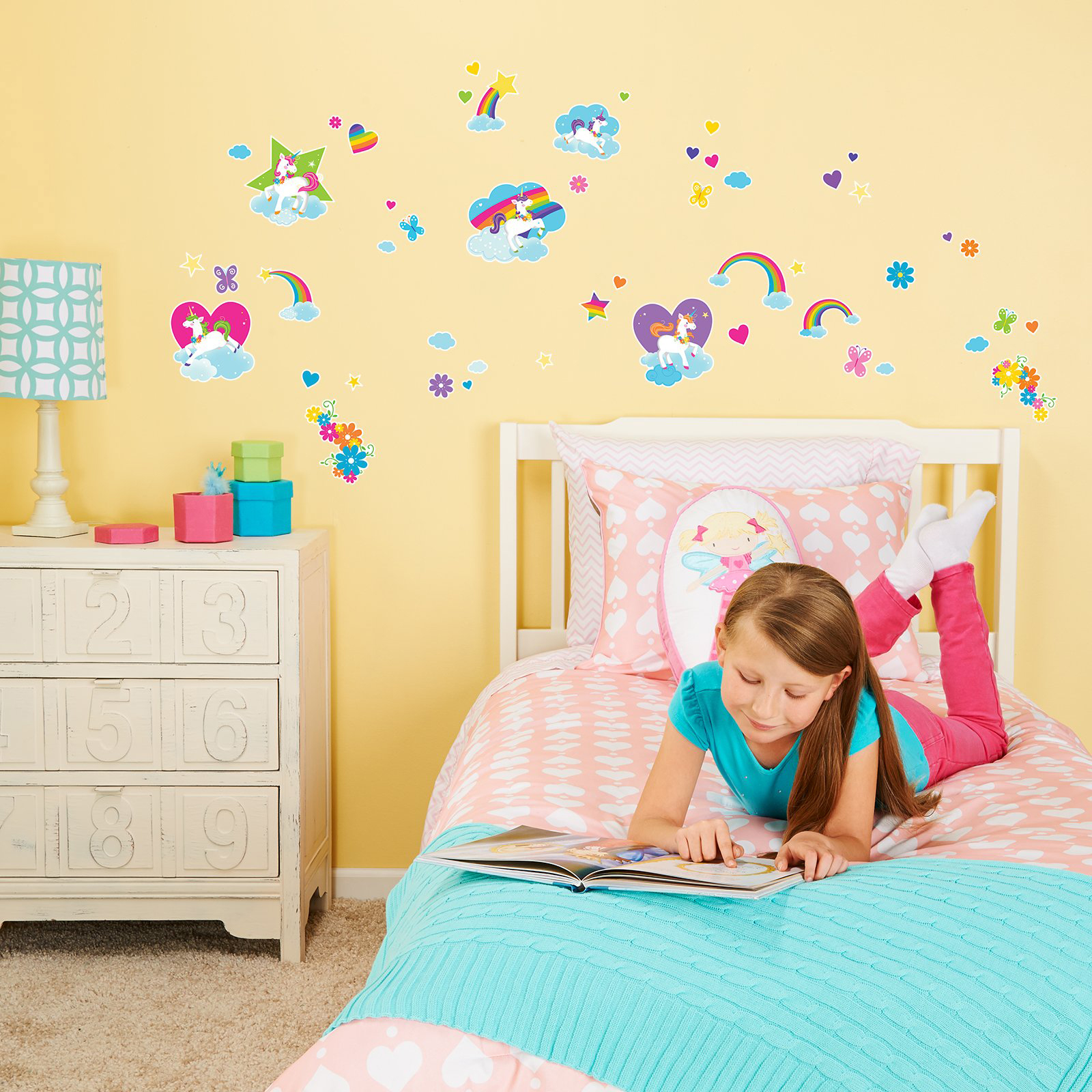 Fairytale Unicorn Party Small Wall Decal