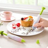 TureClos 3PCS Cake Piping Pen DIY Writing Pastry Icing Pen Kitchen Baking Cream Fondant Decorating Tool, Green