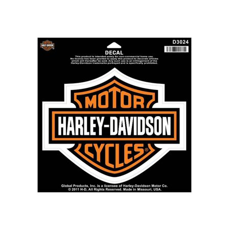 Harley-Davidson Bar & Shield Large Decal, Large Size Sticker D3024, Harley Davidson