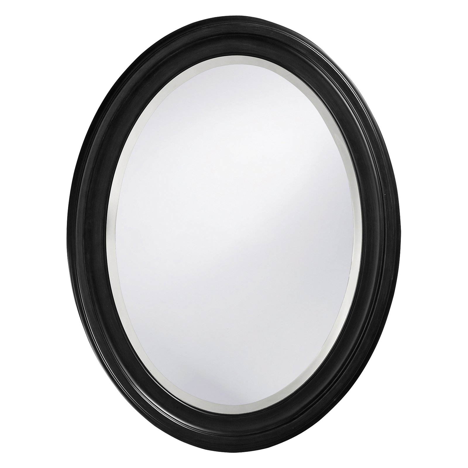 Belham Living Oval Wall Mirror Black 25W x 33H in. by Howard Elliott