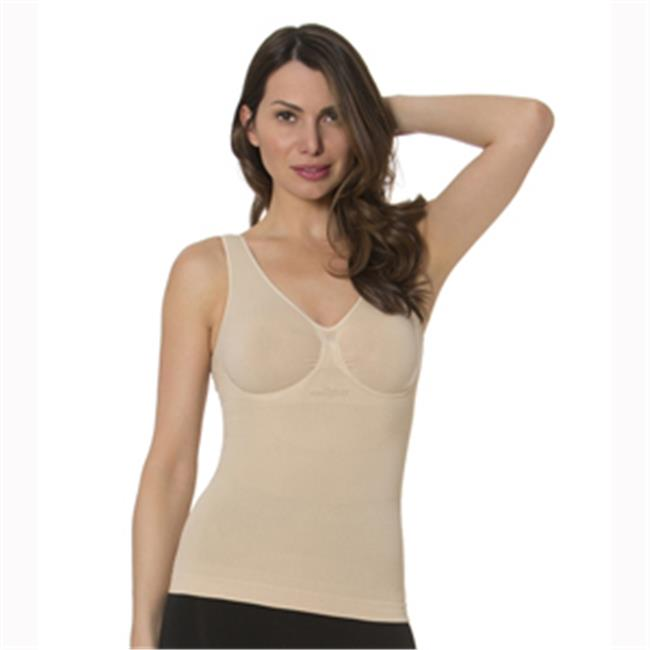 N Fini 573 Double V Neck Tank with Built-in Soft Bra, 3X ...