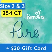 [Save $20] Size 2 & Size 3 Pampers Pure Protection Diapers - 354 Total Diapers