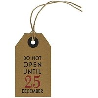 6 Pack - CleverDelights Christmas Gift Tags - Do Not Open Until December 25