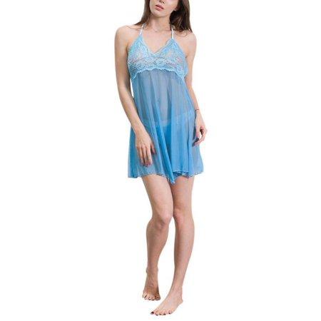 fb2f42595 EFINNY - EFINNY Plus Size Womens Sexy Lingerie Lace Dress Underwear  Babydoll Sleepwear+G-string - Walmart.com