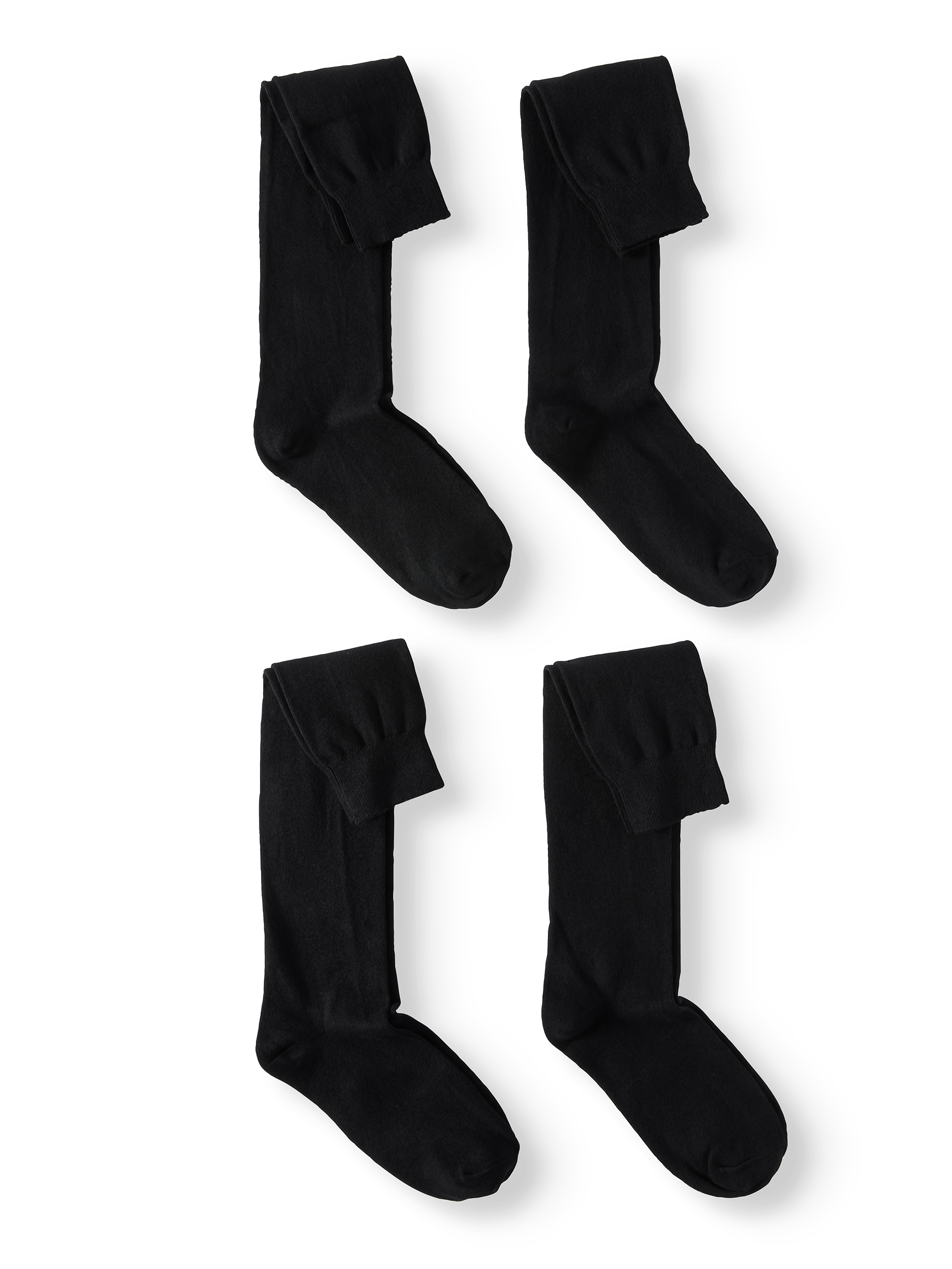 Jefferies Socks School Uniform Cotton Knee High Socks, 4 Pairs (Little Girls & Big Girls)