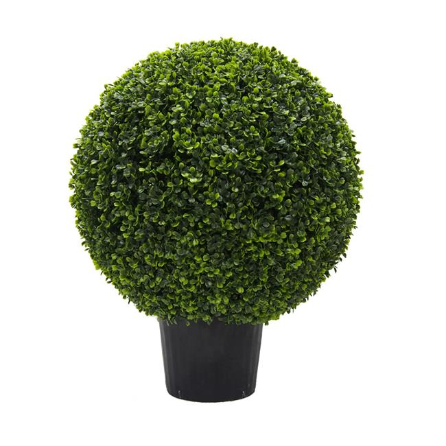 UV Boxwood Ball Everyday Topiary in Pot - 24 in.