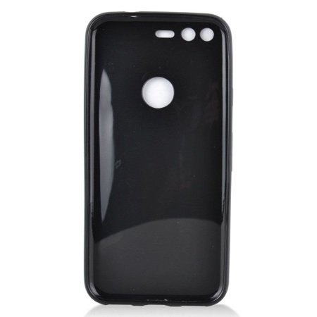 Google Pixel Case, by Insten TPU Rubber Candy Skin Case Cover for Google Pixel, Black - image 2 de 3