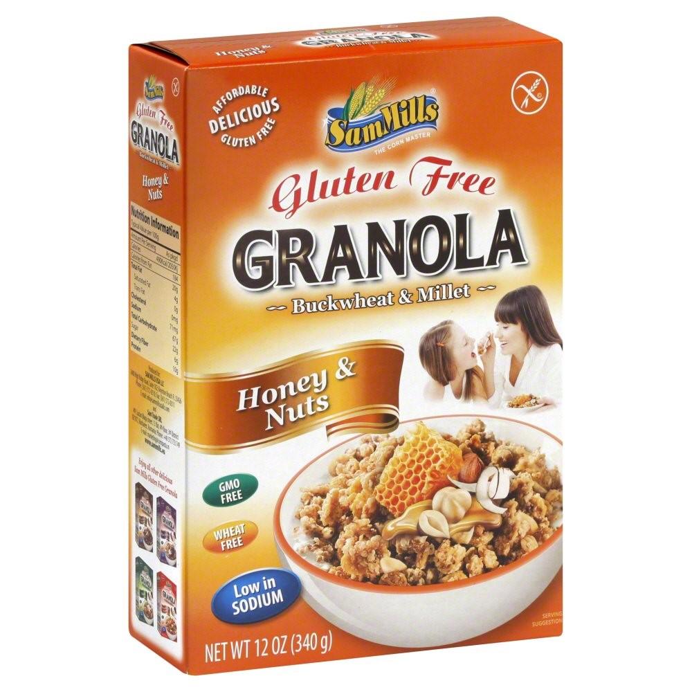 Sam Mills Gluten Free Granola Honey & Nuts, 12 Oz
