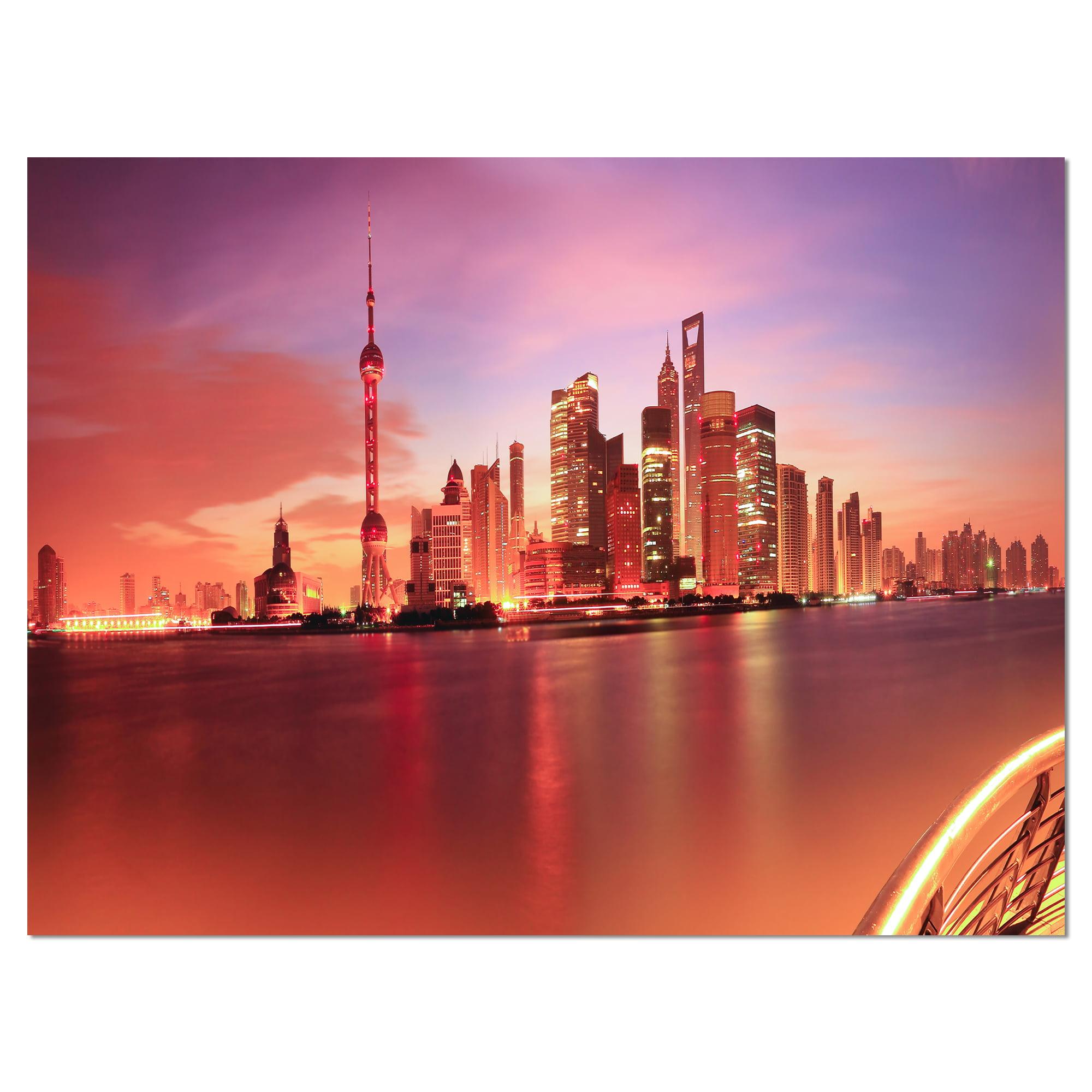 Shanghai Skyline at Dawn Panorama - image 2 de 3