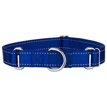 - Country Brook Design® Royal Blue Reflective Nylon Martingale Dog Collar