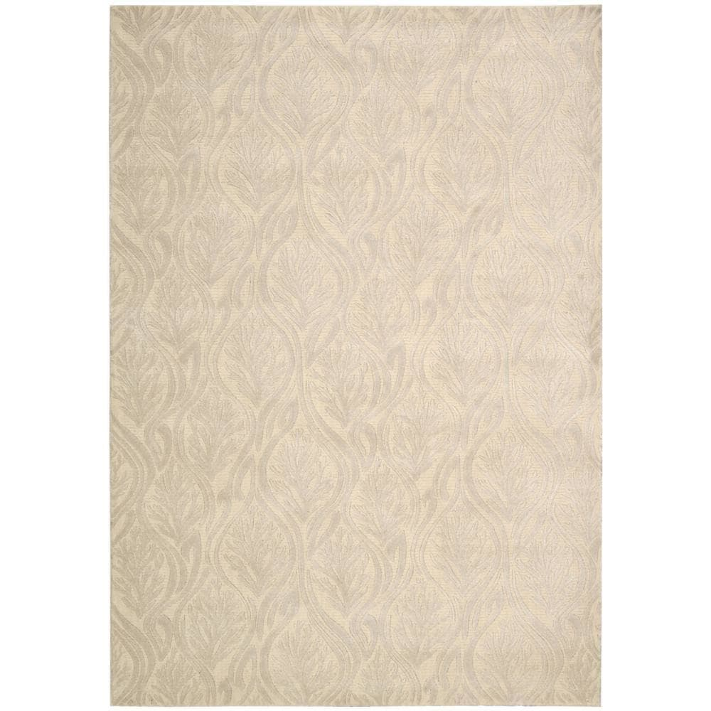 Nourison kathy ireland Hollywood Shimmer Aloha Paradise Cove Bisque Area Rug by (3'9 x 5'9) by Overstock