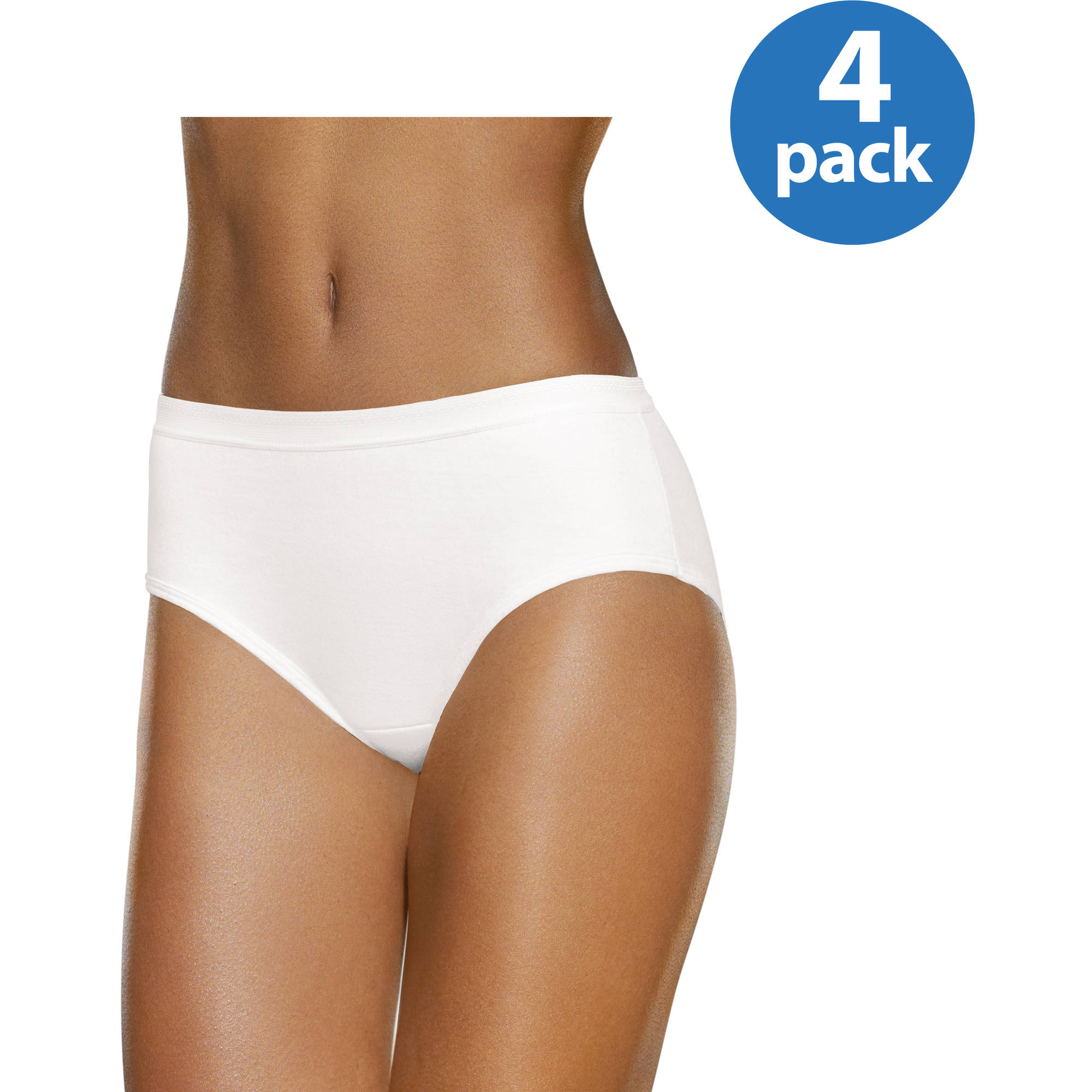 Fruit of the Loom Ladies' 4pk Breathable Low Rise Brief