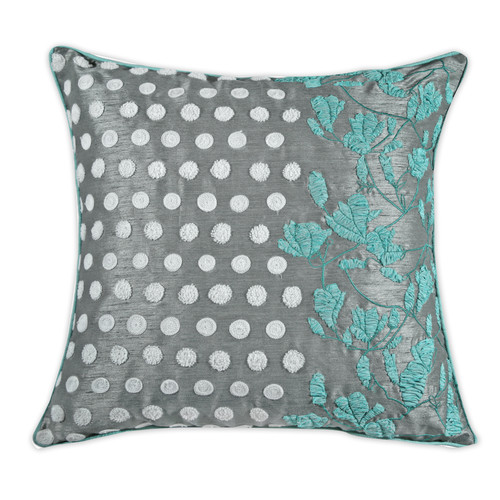 A1 Home Collections LLC Exotic Profusion Embroidered Floral Decorative Cotton Throw Pillow