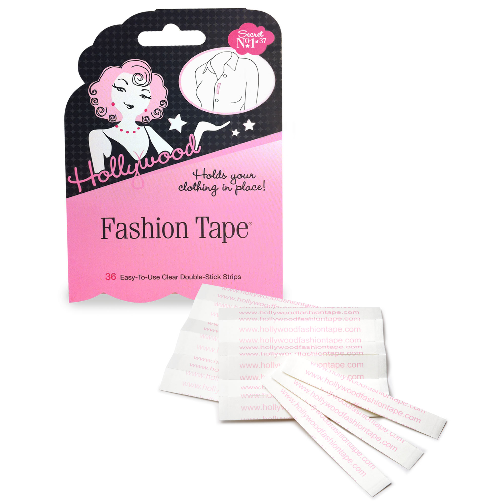 Hollywood Fashion Secrets Fashion Apparel and Body Tape 36 ct, Flat Pack
