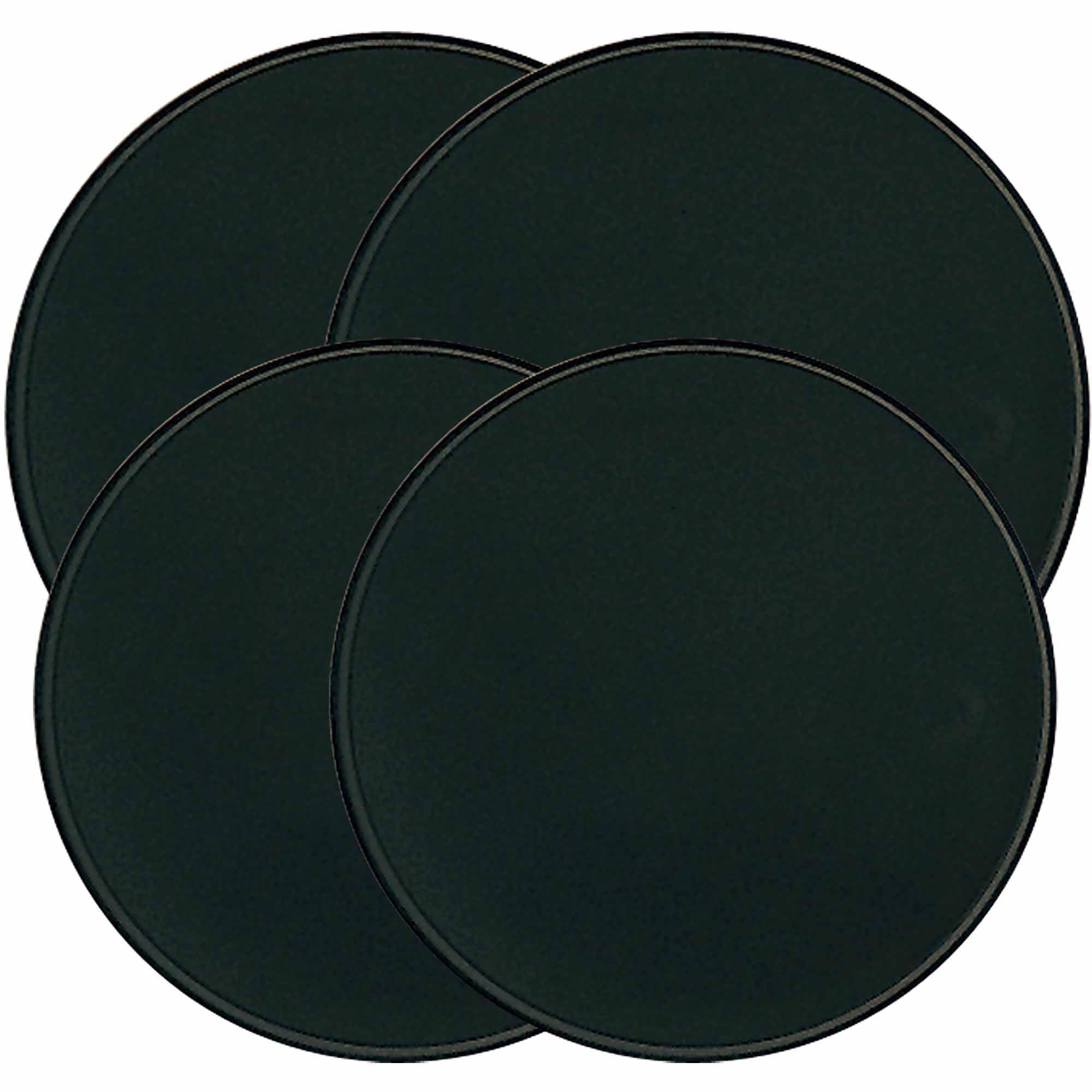 Range Kleen 4-Piece Burner Kover Set, Round, Black
