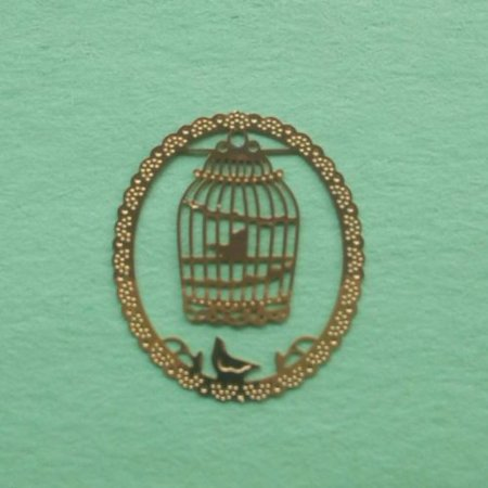 Bird Cage Metal Bookmark + Card • Makes A Great Stocking Stuffer!
