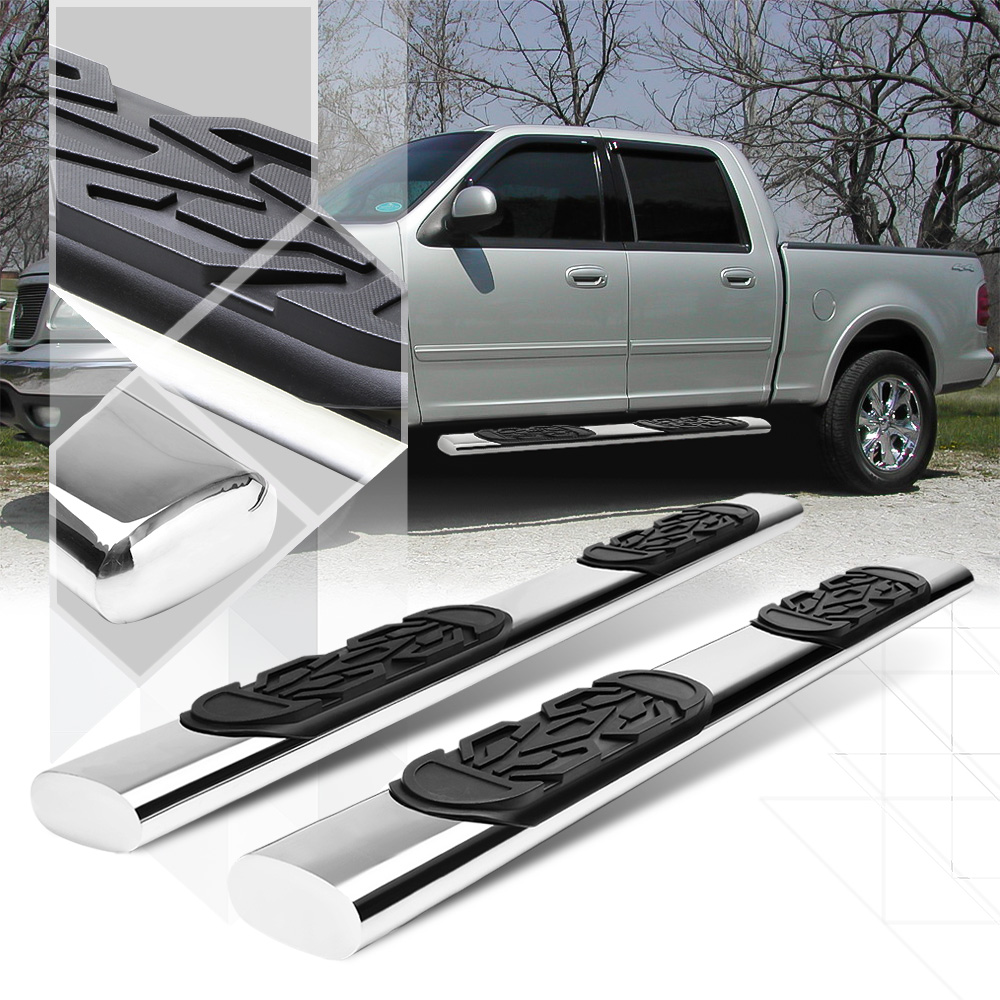 """Chrome 6""""Oval Side Step Nerf Bar Running Board for 01-03 F150 Crew/SuperCrew Cab 02"""