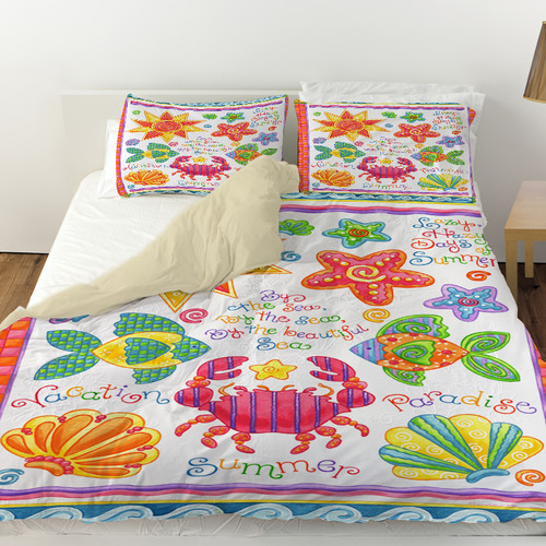 Manual Woodworkers & Weavers By the Sea Duvet Cover