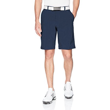 Jack Nicklaus Men's Flat Front Solid Active Flex Short with Media Pocket, Classic Navy, 32