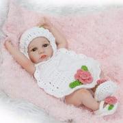 11 inch Lifelike Newborn Baby Doll Reborn Dolls Infant Baby Cute Dolls Toys Kids Girls Gift Soft Safe Silicone Vinyl For 3+ Years