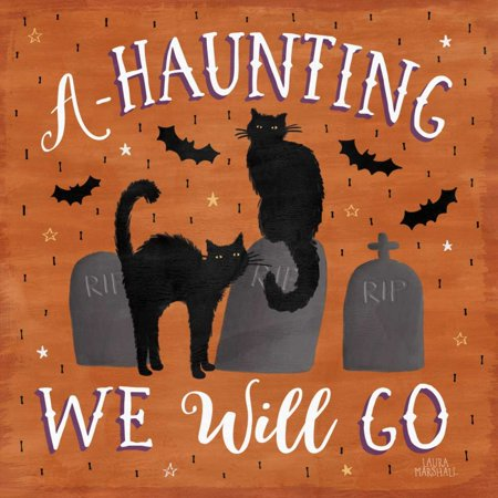 Haunted Halloween V Poster Print by Laura - Marshalls Halloween