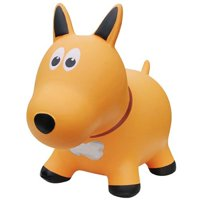 Farm Hoppers Inflatable Bouncing Yellow Dog