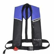 Inflatable Yoke Vest - Blue/Black, 24 Gram Auto/Manual; Universal Adult