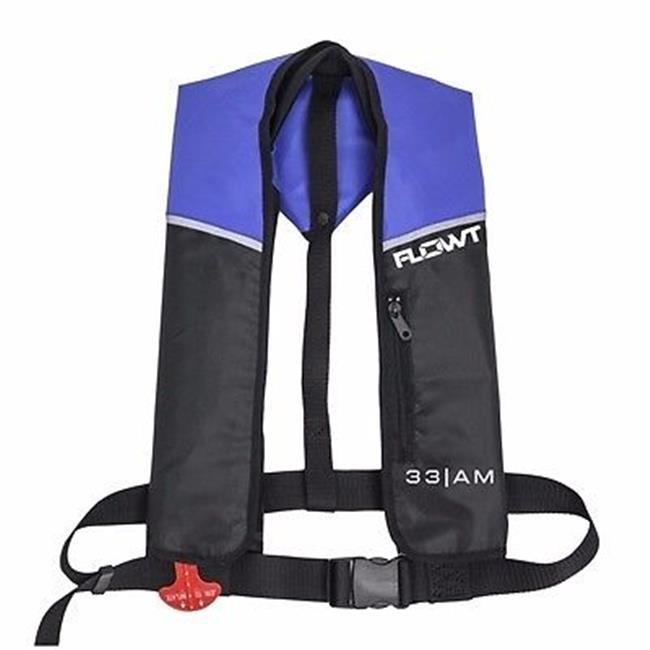 Inflatable Yoke Vest - Blue/Black, 24 Gram Auto/Manual; Universal Adult