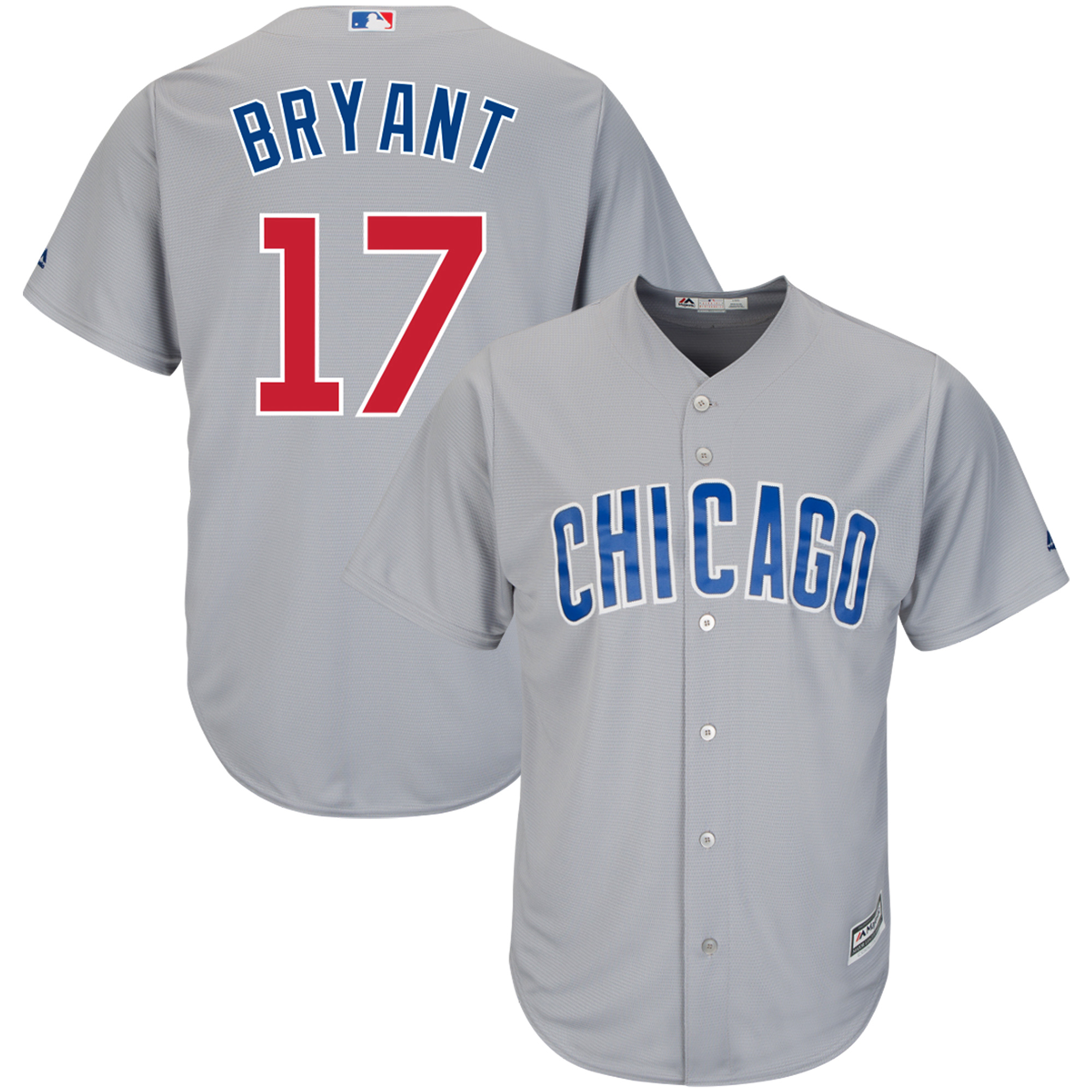 Kris Bryant Chicago Cubs Majestic Cool Base Player Jersey - Gray