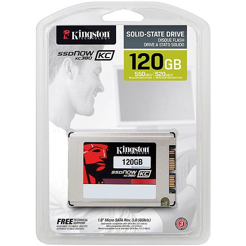 Kingston 120GB SSDNow KC380 SSD micro, SATA 3, 1.8""