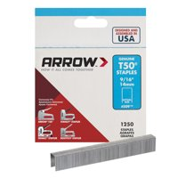 "Arrow T50 9/16"" Staples 1250 Count"