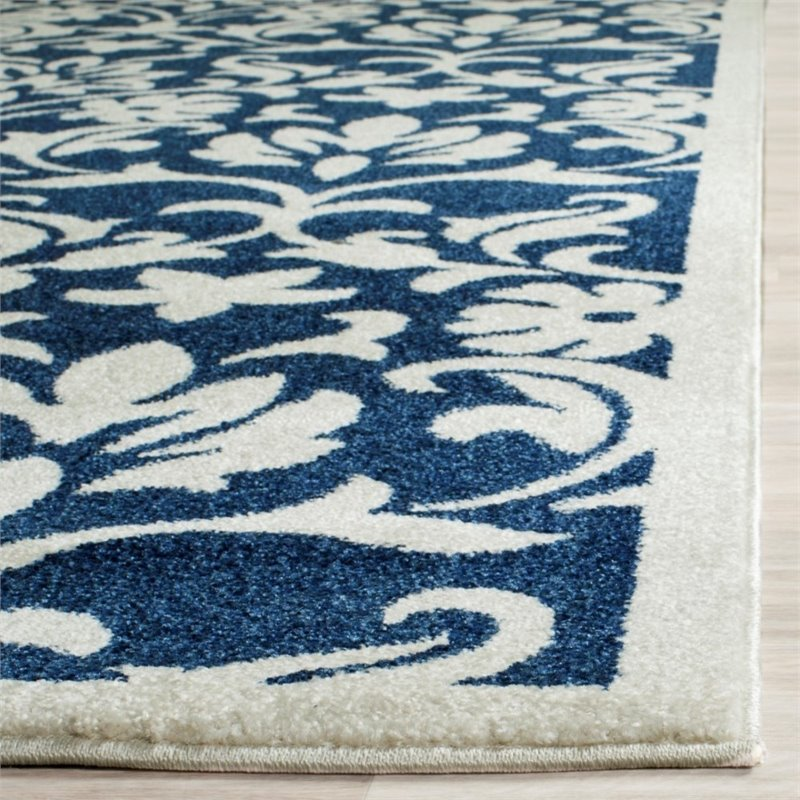 Safavieh Amherst 6' X 9' Power Loomed Rug in Navy and Ivory - image 2 de 3
