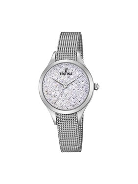 Festina F20336-1 Ladies Mademoiselle Silver Dial Stainless Steel 32mm Watch